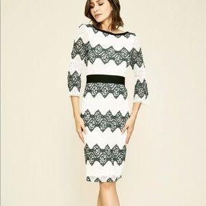 Tadashi Shoji Steffi midi formal dress black